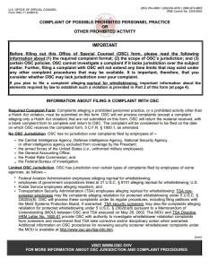 OSC Form 11
